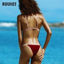RUUHEE Sexy Bikini Swimwear Swimsuit Bikinis Set Bathing Suit Women 2017 Biquini Push Up Beachwear Maillot De Bain Femme