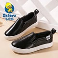 2016 BABAYA Autumn low top slip on elastic solid casual flat children fashion sneakers boy brand loafers kids girl leather shoes