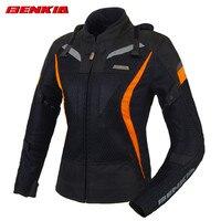 BENKIA JWW21 Для женщин Мото куртки Race Костюмы Racing куртки сетка Материал мотогонщиков куртка с защитой щитки