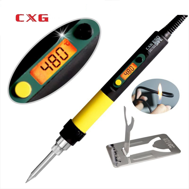 CXG DS110S DS90S DS60S High Quality Digital Electric Soldering Iron 110W With Backlight Soldering Iron C9 Serise Sting Tips