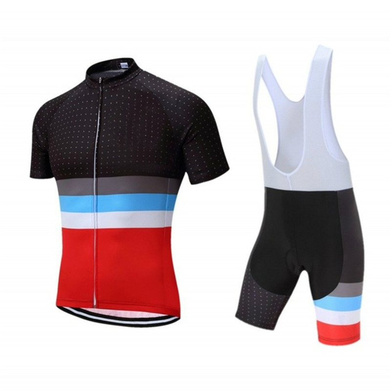 2018 Sports Stripe Team men's Cycling jersey Breathable Mountain Bike Clothing / Summer bike clothes Quick Dry Bike Sportswear summer sports cycling clothes men s cycling jersey sets breathable quick dry mountain bike sports wear for spring women new