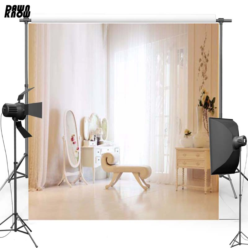 Background Laeacco Princess Girl Dressing Table Make Up Mirror Curtain Window Photo Backgrounds Photography Backdrops For Photo Studio Products Hot Sale