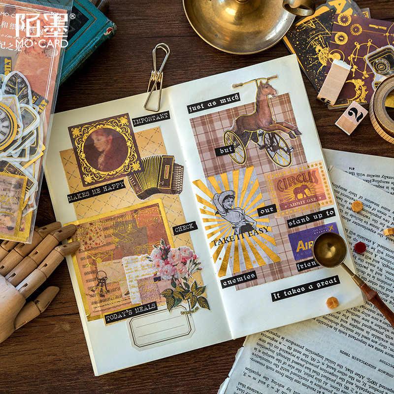 Selo de plantas/planeta/príncipe dourado viagem diário adesivos decorativos scrapbooking vara etiqueta diário papelaria álbum adesivos