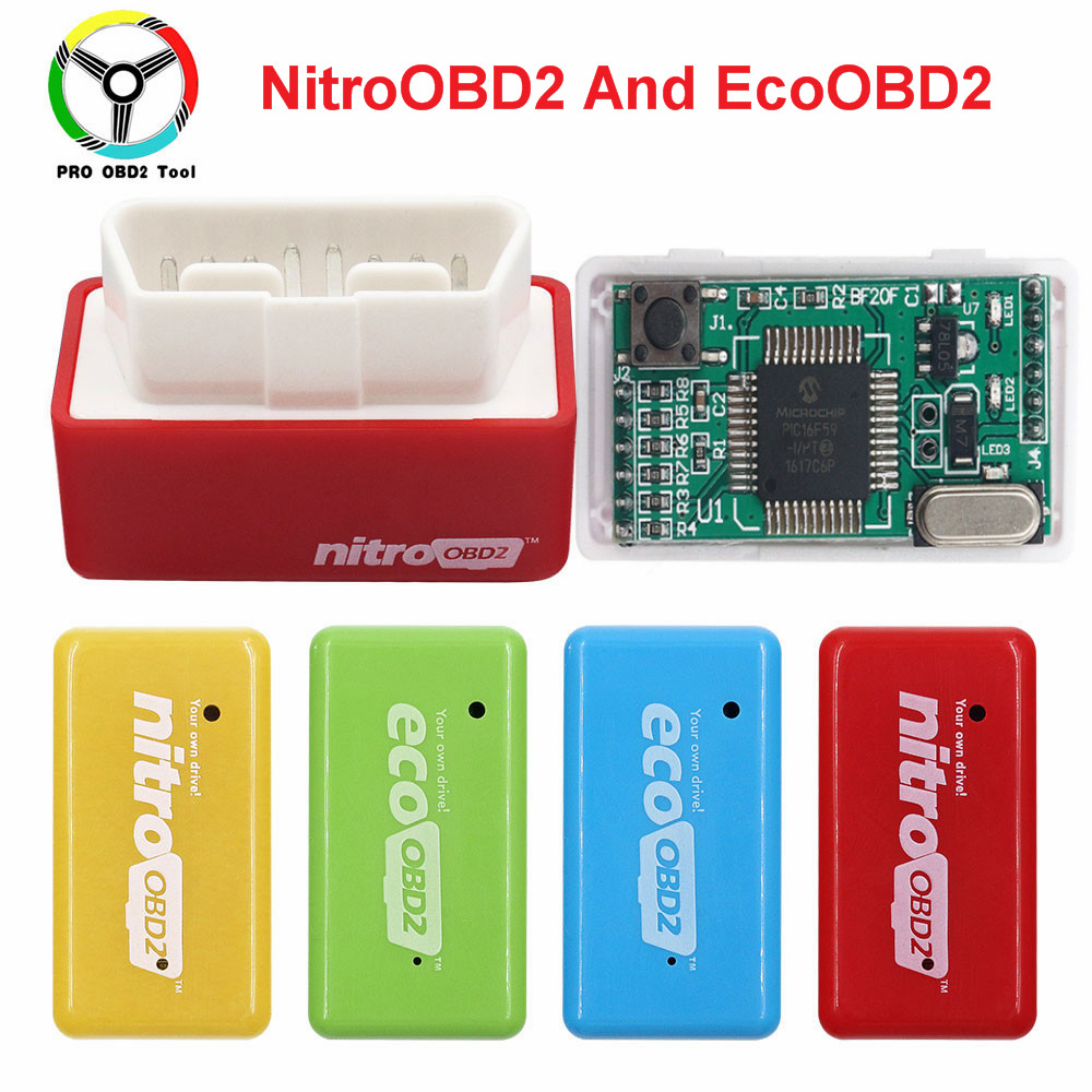 15% Fuel Save EcoOBD2 For Benzine Petrol Gasoline Cars Eco OBD2 Diesel NitroOBD2 Chip Tuning Box Plug & Driver Diagnostic Tool