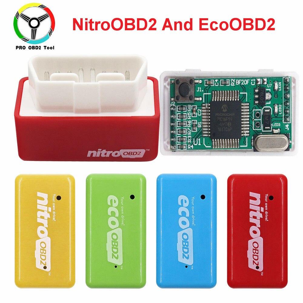 15% kraftstoff Sparen EcoOBD2 Für Benzine Benzin Benzin Autos Eco OBD2 Diesel NitroOBD2 Chip Tuning Box Stecker & Fahrer Diagnose werkzeug