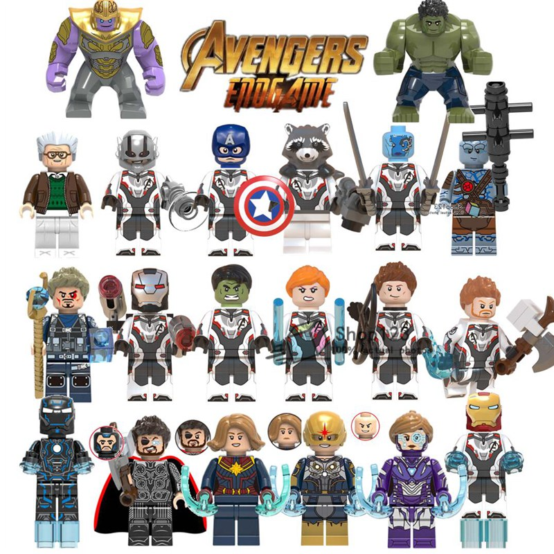 50pcs lot Wholesale kit Hulk Thanos Iron Man Marvel s 4 Endgame Super Hero Thor Brick