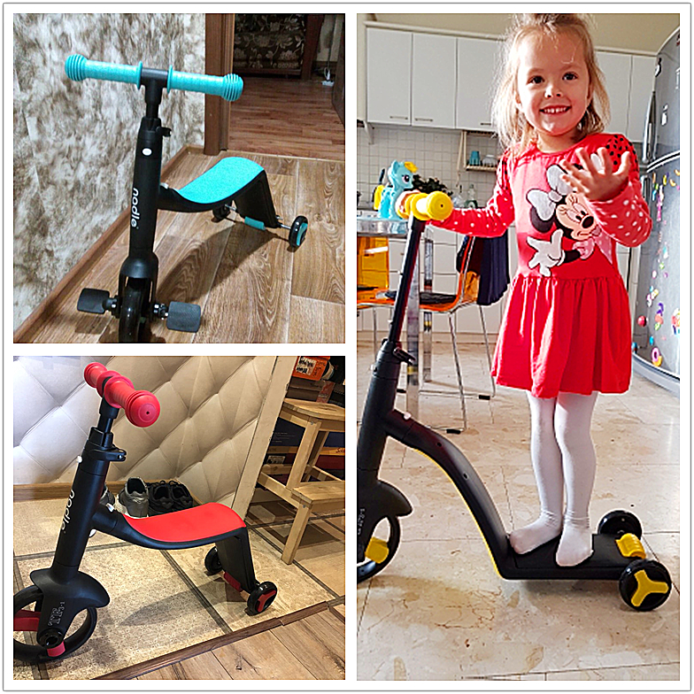 3 en 1 enfants coup de pied trottinette + Tricycle + Balance vélo enfant monter sur jouet garçon fille Scooter réglable bambin cadeau d'anniversaire