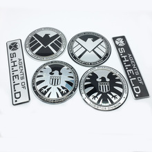 FTDF car styling Marvel Agents of Shield Emblem Badge Decal For BMW Audi Ford Nissan