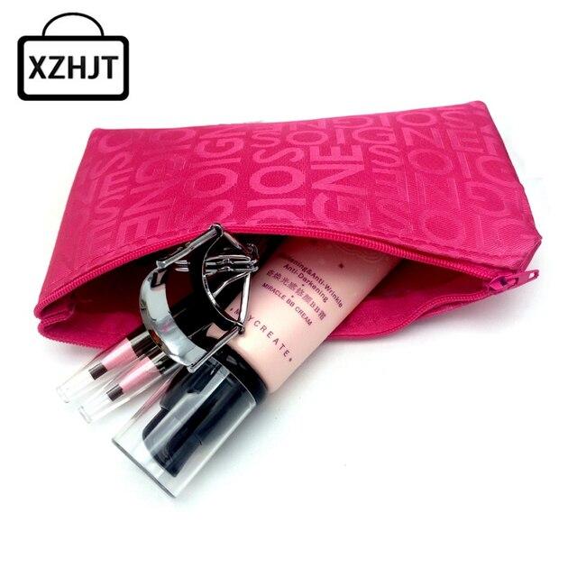 Femmes Portable Cosmétique Sac Mode Beauté Zipper Voyage Make Up Sac Lettre Maquillage Pochette De Toilette Organisateur Titulaire