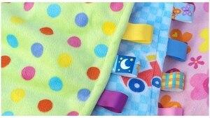 """Image 2 - 7 סגנון 30 ס""""מ תינוק מנחם Taggies שמיכת סופר רך כיכר קטיפה תינוק לפייס מגבת תינוק צעצועים"""