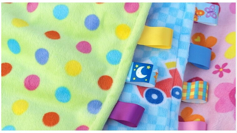 Image 2 - 7Style 30cm Baby Comforting Taggies Blanket Super Soft Square Plush Baby Appease Towel Baby Toys-in Baby Rattles & Mobiles from Toys & Hobbies