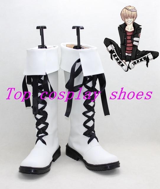 Freeshipping anime Hitman Reborn Belphegor Cosplay Boots Shoes white  custom-made Hand made for Halloween