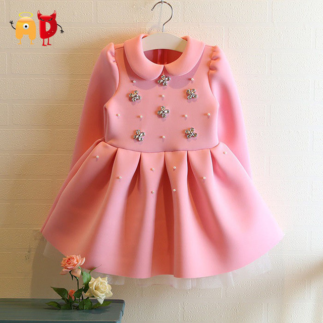 AD Girls Crystal Floral Thick Dresses Age 2 10 Children s Winter Autumn Ball Gown Dress_640x640 aliexpress com buy ad girls crystal floral thick dresses age 2,Childrens Clothes Age 2