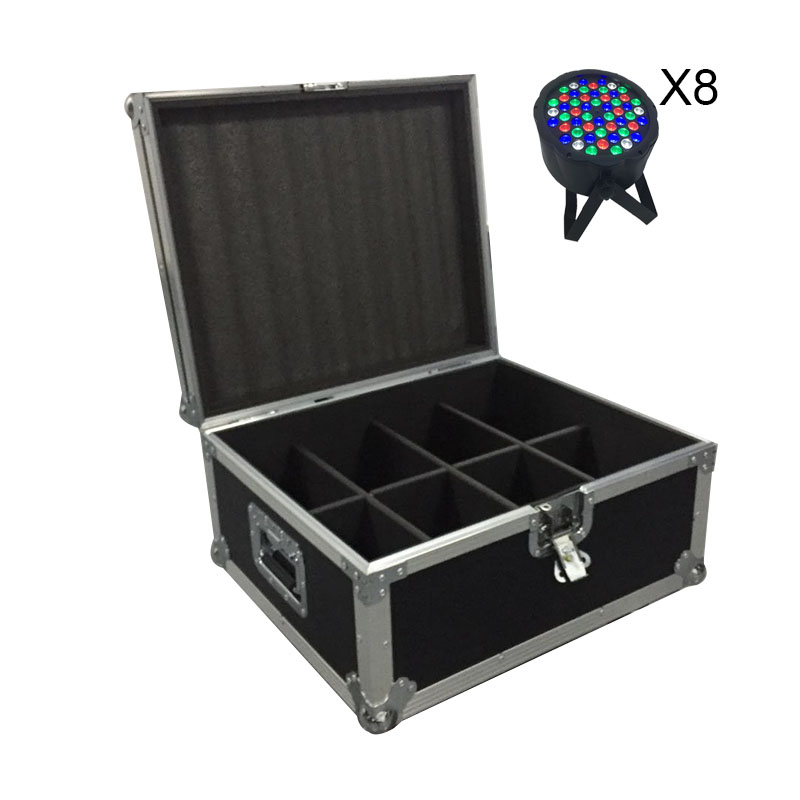 FlightCase With 6/8/10/12/16pcs LED 54x3W RGBW LED Flat Par RGBW Color Mixing DJ Wash Light Stage Uplighting KTV Disco DJ DMX512