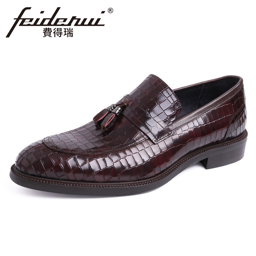 Luxury Genuine Leather Mens Height Increasing Wedding Loafers High Quality Round Toe Slip on Handmade Man Casual Shoes YMX437Luxury Genuine Leather Mens Height Increasing Wedding Loafers High Quality Round Toe Slip on Handmade Man Casual Shoes YMX437