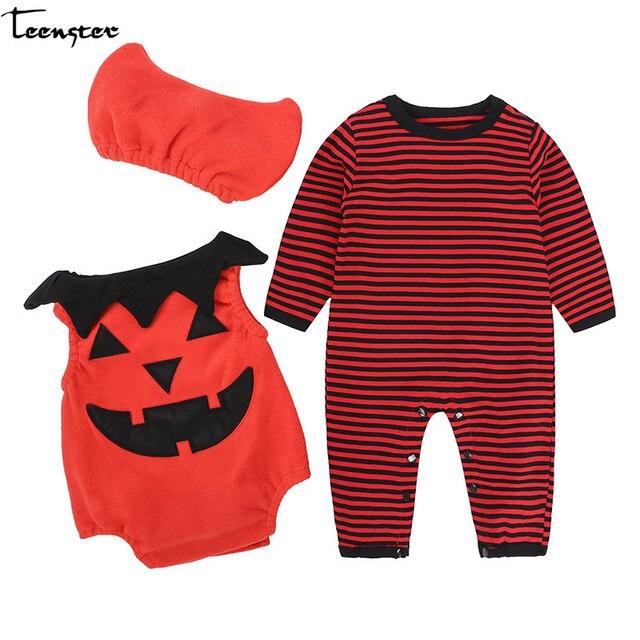 Peuter Halloween.Baby Boy Outfit Kleding Halloween Lange Mouw Bodysuit Vest Hoed 3 Stuks Peuter Meisje Pasgeboren Fall Lente Kostuum