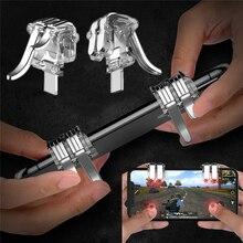 1 пара W6 новая концепция шесть пальцев связь PUBG телефон игровой триггер L1 R1 шутер контроллер мобильная игра огонь Кнопка цель ключ