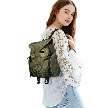 Animal Nylon Travel Backpack Women School Bags For Teenage Girls Bookbag Korean Style Backpack Waterproof Bagpack Women 50Z0074