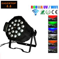 TIPTOP TP P80B Remote Control 18x18W Led Par Light RGBW Amber UV 6in1Wireless DMX 512 LED Up Light Wedding Led Stage Light