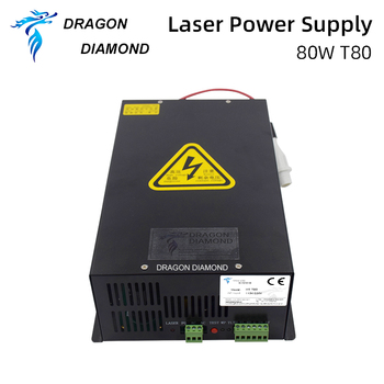 Dragon Diamond 80W CO2 Laser Power Supply For Laser Tube For CO2 Laser Engraving And Cutting Machine HY-T80 Series Long Warranty hy t100 good quality high power co2 laser tube power supply laser machine for engraving and cutting