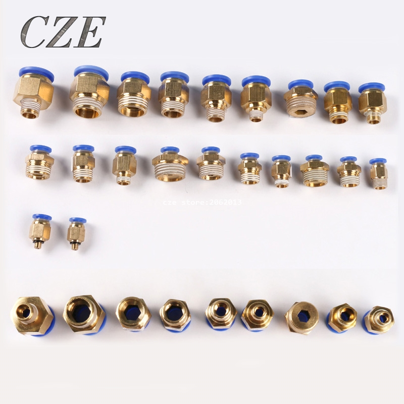 5Pieces PC Types Pneumatic Quick Insert Pins Threaded Pneumatic Fittings PC4/PC6/PC8/PC10/PC12/PC14-04 free shipping 10pcs pneumatic fitting push in quick connector fittings pc6 01 pc6 02 pc8 01 pc8 02 pc4 m5 pc4 01 pc10 02 pc10 03