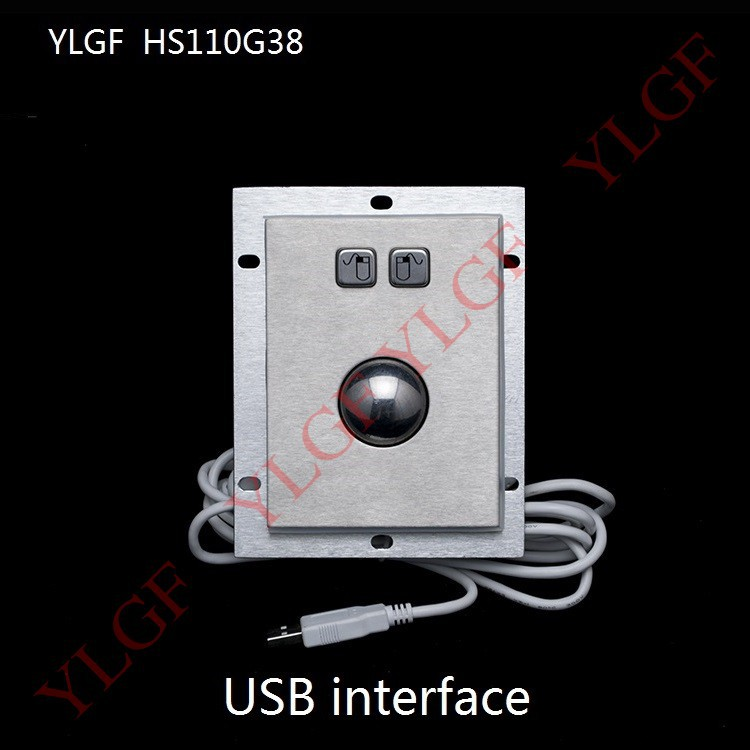 Trackball mouse YLGF HS110G38-U USB interface Embedded Industrial mouse waterproof (IP54), dust, anti violence