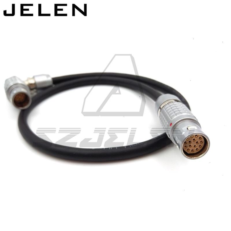 Arri Alexa XT EVF Cable (Short) - Right Angle to Straight, ARRI Alexa Viewfinder Cable, LEMO 2b FGJ 16 pin to FUR.2B. 16 pin arri alexa mini amirai power link lemo fhj 2b 8 pins female to 4 pin neutrik xlr 4 pin female cable 1m