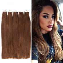 16″ 18″ 20″ 22″ 24″ 26″ 7A Tape Hair Extenisons 20pcs/set Tape In Remy Human Hair Skin Weft Brazilian Hair Extension