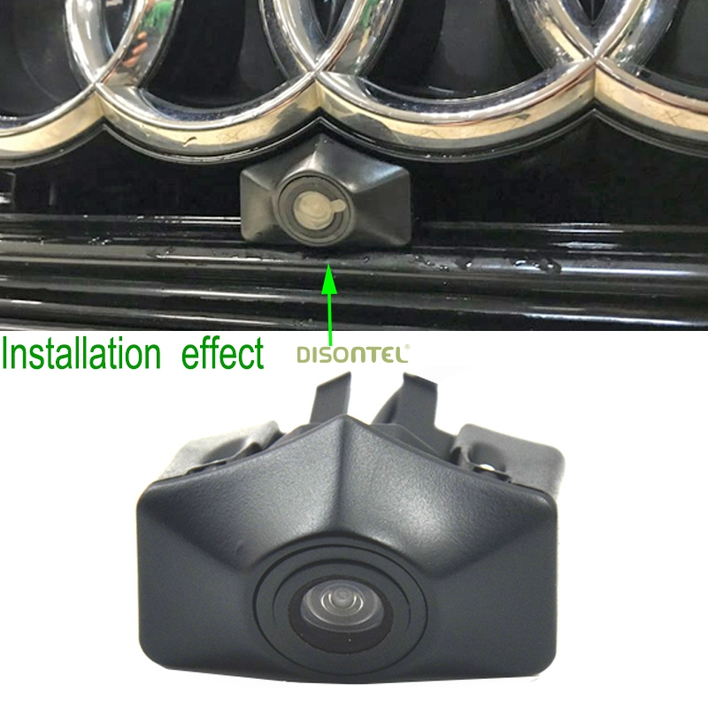 NEW Car Front View Camera Logo Embeded Camera For Audi A6L 2012 2013 Free Shipping CCD 480 TVL HD Colour Waterproof wide angle car front camera parking system waterproof wide angle ccd hd color for hyundai logo front camera mark emblem camera