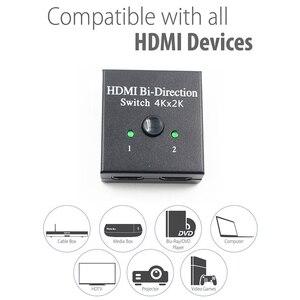 Image 3 - Yeni HDMI bi yön anahtarı HDMI 2.0 HD 4K Switcher 1x2/2x1 adaptörü 2 in 1 out dönüştürücü PS4 Pro/4/3 TV kutusu HDMI dağıtıcı