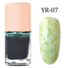1 Pcs Nail Polish Glue Gel Inks Gradient Marble Pattern Non-toxic Fashion Makeup JIU55