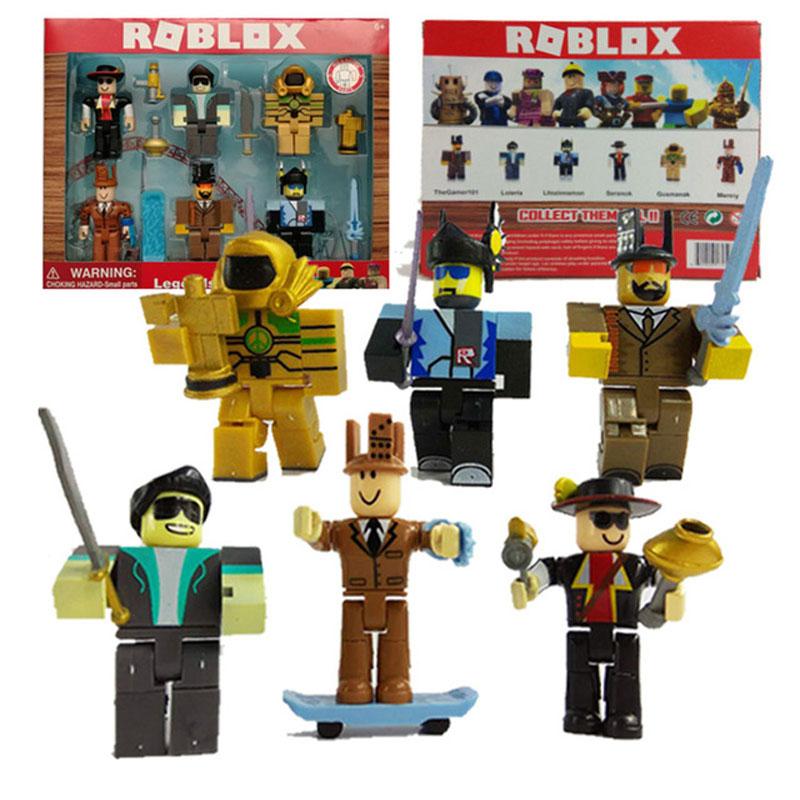 Boxed 6pcs/set Roblox Roblox Game Figure Toys 2018 7cm PVC Roblox Boys Figurki Roblox Characters Kids Toys gift free shipping