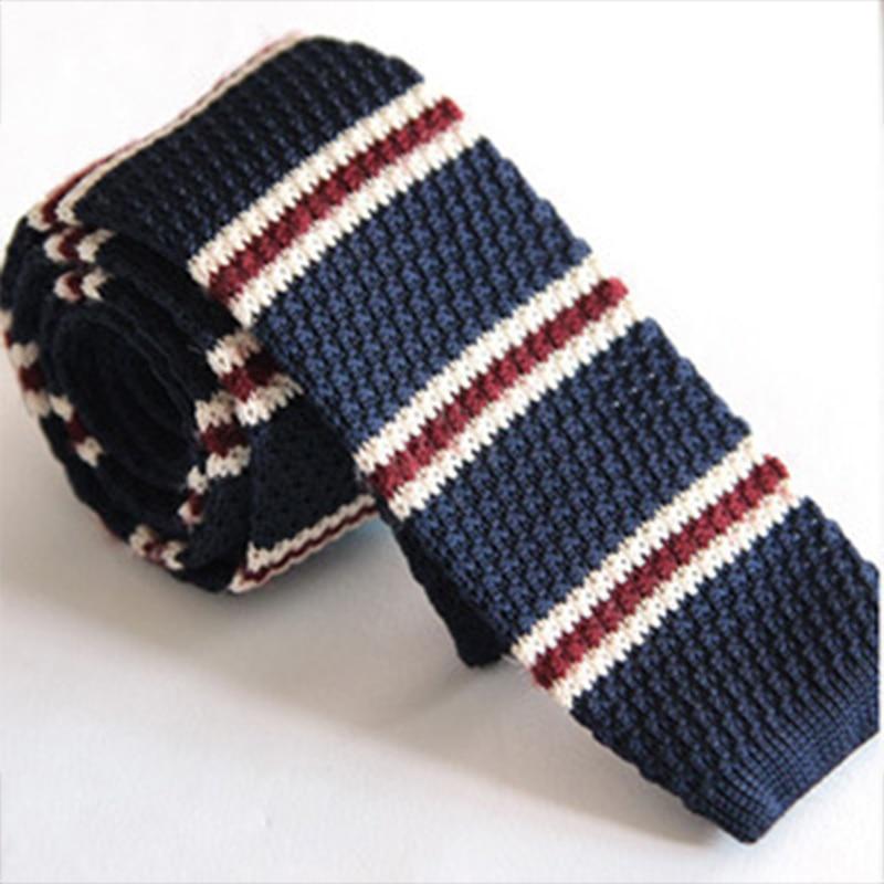 Mantieqingway 5cm moška pletena kravata za kravato za moške črte, natisnjene usnjene pletene vratu kravato gravatas Vestidos kravata
