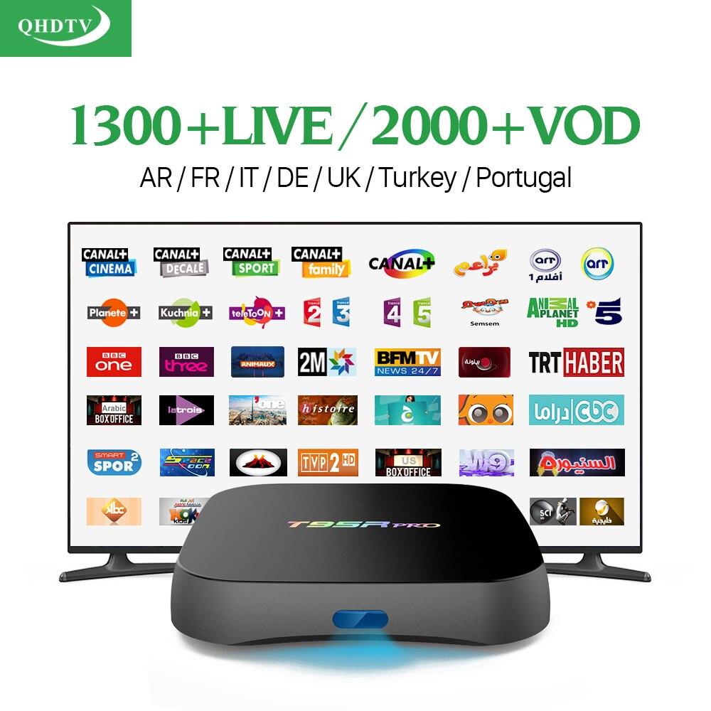 S912 T95Rpro TV Box Android 6.0 Amlogic 2G 16G Octa Core Wifi con Canales de IPT