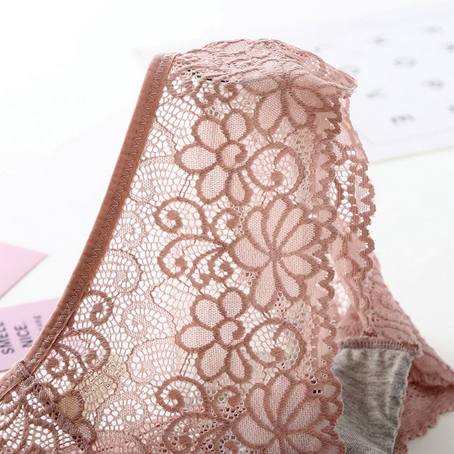 Women Sexy Lingerie Breathable Solid Briefs