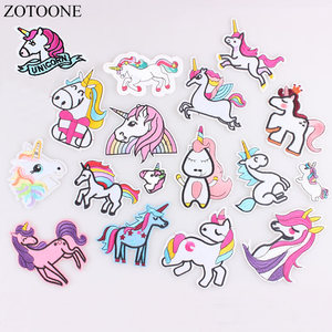 ZOTOONE Unicorn Patches Iron On Sewing Embroidered Animal Applique for Jacket Clothes Stickers Badge DIY Apparel Accessories E