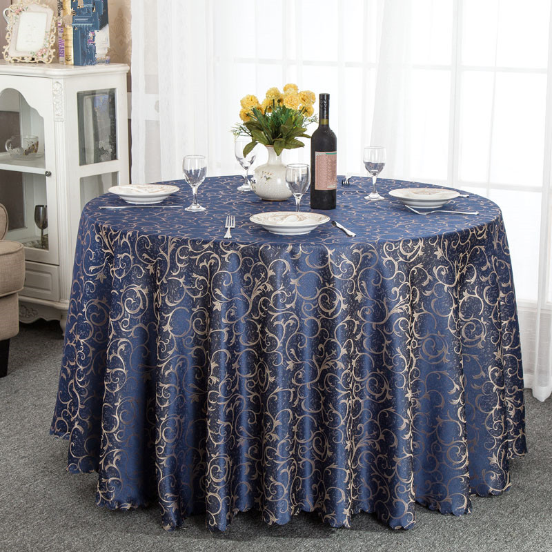 Round Rectangle Polyester Table Cover Cloth Tablecloth