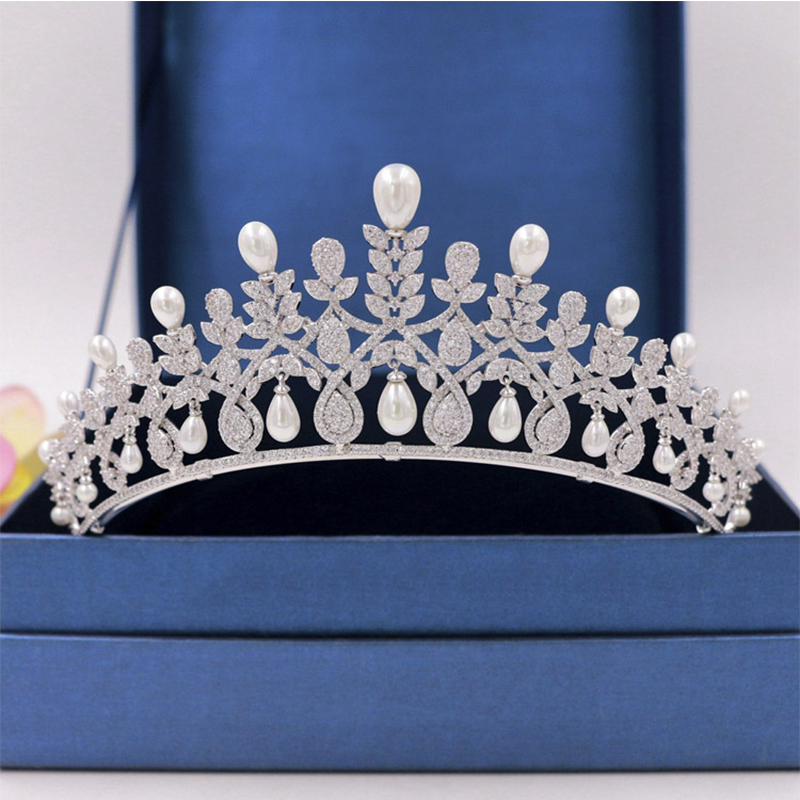 Luxury Wedding Crystal Crown Hair Jewelry Bridal Head Ornament Rhinestone Mosaic Crown Party Show Pageant Hair Accessories girl crown crystal barrettes hair accessories shiny rhinestone crystal crown bridal wedding tiara flower child hair ornament