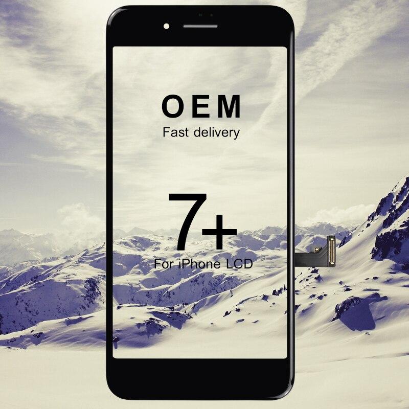 5 pièces affichage pour iphone 7 plus remplacement d'écran OEM meilleur remplacement lcd pas de Pixel mort remplacement d'assemblage d'écran tactile