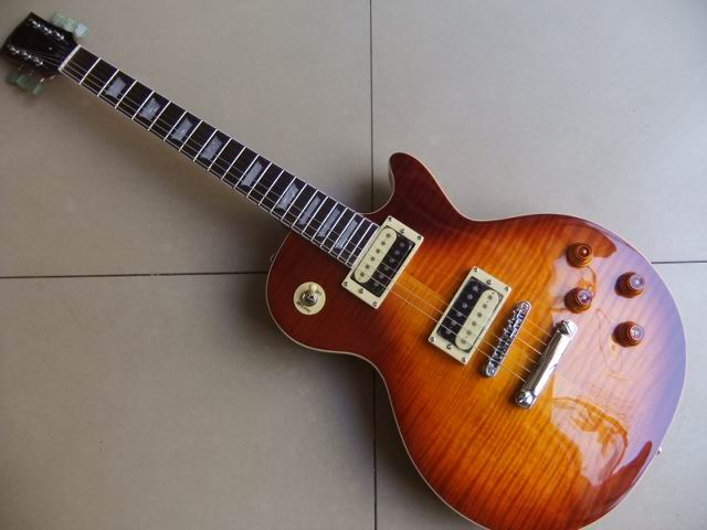 Wholesale Cnbald New LP Standard electric guitar Seymour Duncan pickups Maple Top In Sunburst guitar best quality 110328 electric guitar free shipping 2017 guitarra wholesale new gib standard slash oem lp guitar with p90 pickups guitar in china