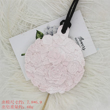 Round flower aromatherapy gypsum mould hand made diy candle wax silicone mold