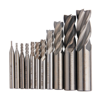 11Pcs 1 16 3 4 Carbide Milling Cutter HSS 4 Flutes End Mills Router Bit Set