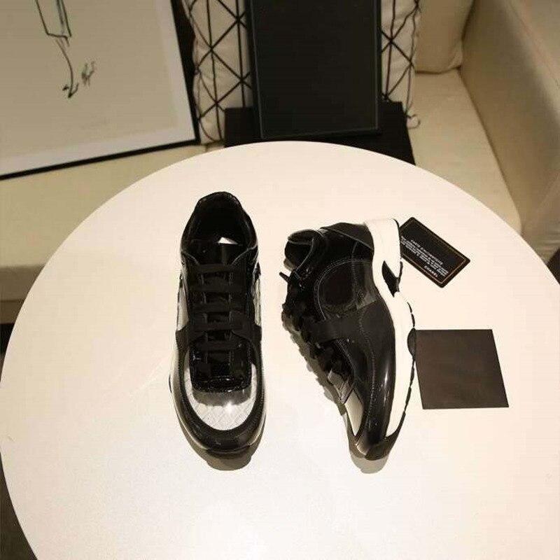 Femmes chaussures décontractées 2019 nouveau haut de gamme luxe designer PVC transparent confort chaussures à lacets plate-forme