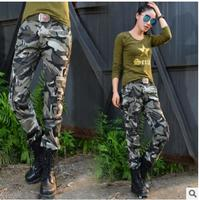 2017 Summer Camouflage Pants Women Cargo Pants Women Military Trousers Fashion Casual Loose Baggy Pants Army