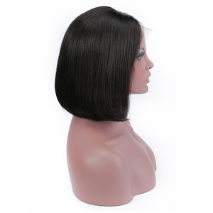 Image 3 - ポーカーフェイスボブかつらショートレースフロントかつら人毛ブラジルストレートレースの前部かつら女性髪