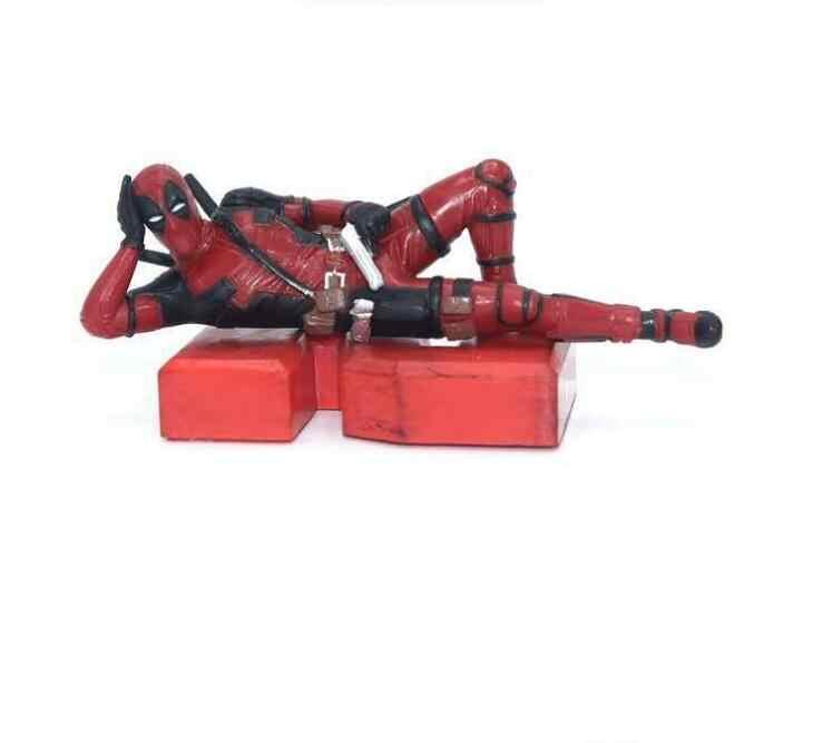 Pçs/lote 5 Deadpool Marvel Action Figure 2 Engraçado Modelagem Figuras PVC Brinquedos Do Carro de Decoração Para Casa Bonecas Brinquedo para presente das crianças