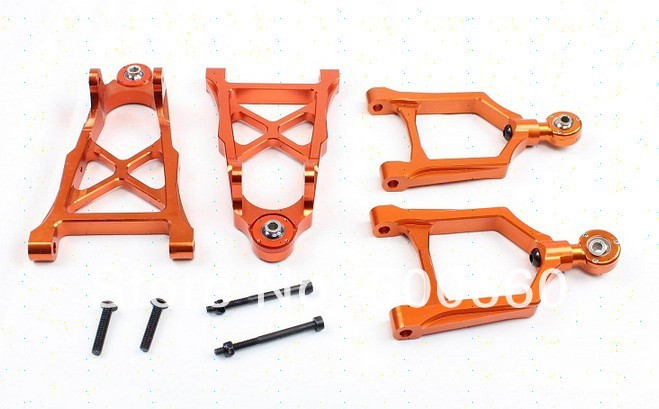 Front Alloy Arm Set for baja parts 1 set  85113 Baja Front Alloy for 1/5 RC CAR hpi rovan KM baja Upgrade parts цена 2017
