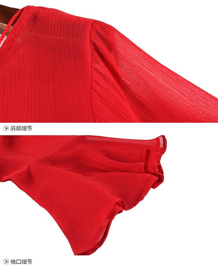Plus Plage red Boho 2018 Femmes 4xl Noir En Black Femme Partie Taille Xl D'été Robes Lâche Emboridery De Mousseline Parti Robe Mignon Rouge Soie La vTOqwaS