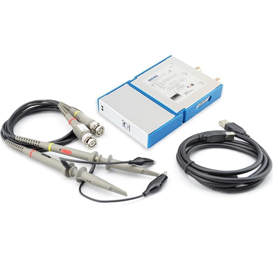 Dual Channel Virtual Oscilloscope PC Oscilloscope OSC482 50M Sampling 20M Bandwidth PK 1008C 6022BL o007 mdso pc usb oscilloscope kit virtual analog oscilloscope bandwidth 20m sampling rate 48m with dual probe free shipping