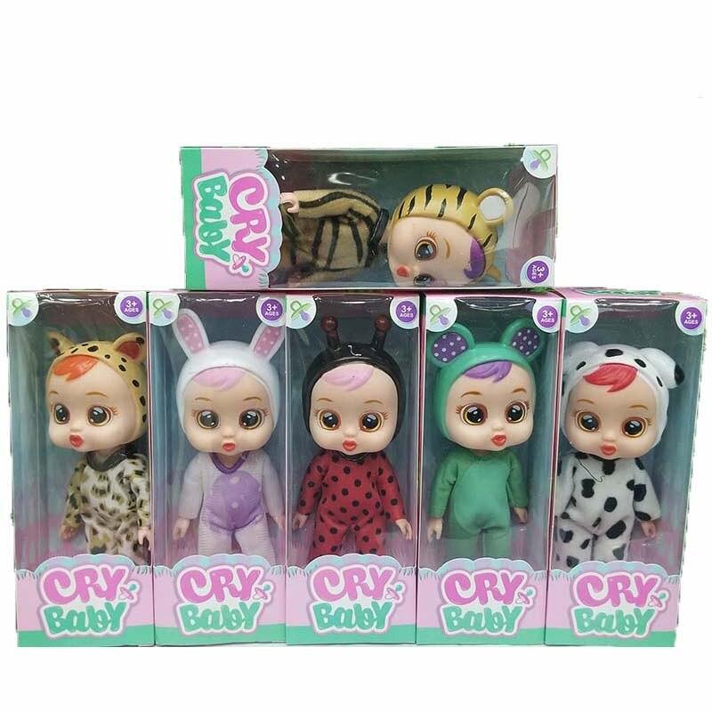 Cry Babies Juguetes Reborn Baby Dolls Toy cartoon Anime Figure Bebek Lea Doll Birthday Party Toys